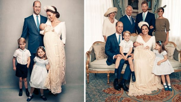Britain's royal family released the official christening photos of their newest addition, Prince Louis fifth in line to the throne. (Matt Holyoak Camera Press)