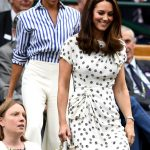1 In their first-ever solo outing, Meghan Markle and Kate Middleton are watching the women's singles final at Wimbledon right now Photo (C) GETTY