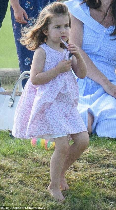 Princess Charlotte Playing Photo (C) GETTY