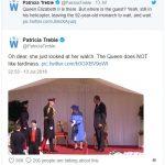 1 Queen Elizabeth Waiting for President Donald Trump Photo (C) Twitter