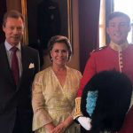 1 The family posed with the regiment's mascot. Copyright Cour grand-ducale Photo (C) INSTAGRAM