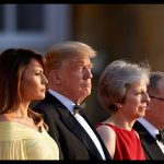 11 President of the United States Donald Trump, 72, and First Lady Melania Trump, 47, touched down at Stansted Airport yesterday to begin a three-day tour of the UK. Photo (C) REUTERS, GETTY IMAGES