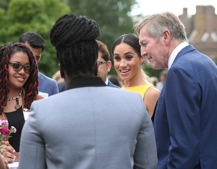 Meghan Markle is a vision in yellow at Commonwealth event with Prince Harry Photo (C) PA