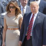 2 President of the United States Donald Trump, 72, and First Lady Melania Trump, 47, touched down at Stansted Airport yesterday to begin a three-day tour of the UK. Photo (C) REUTERS, GETTY IMAGES