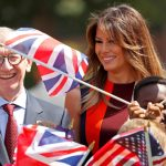 23 President of the United States Donald Trump, 72, and First Lady Melania Trump, 47, touched down at Stansted Airport yesterday to begin a three-day tour of the UK. Photo (C) REUTERS, GETTY IMAGES
