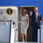 3 President of the United States Donald Trump, 72, and First Lady Melania Trump, 47, touched down at Stansted Airport yesterday to begin a three-day tour of the UK. Photo (C) REUTERS, GETTY IMAGES