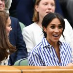 4 In their first-ever solo outing, Meghan Markle and Kate Middleton are watching the women's singles final at Wimbledon right now Photo (C) GETTY