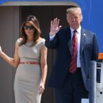 President of the United States Donald Trump, 72, and First Lady Melania Trump, 47, touched down at Stansted Airport yesterday to begin a three-day tour of the UK. Photo (C) REUTERS, GETTPresident of the United States Donald Trump, 72, and First Lady Melania Trump, 47, touched down at Stansted Airport yesterday to begin a three-day tour of the UK. Photo (C) REUTERS, GETTY IMAGESY IMAGES
