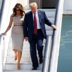 5 President of the United States Donald Trump, 72, and First Lady Melania Trump, 47, touched down at Stansted Airport yesterday to begin a three-day tour of the UK. Photo (C) REUTERS, GETTY IMAGES