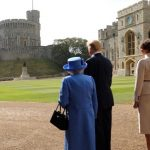 After the Inspection of the Guard The President and First Lady joined Her Majesty for tea at the Castle. .Photo (C) TWITTER
