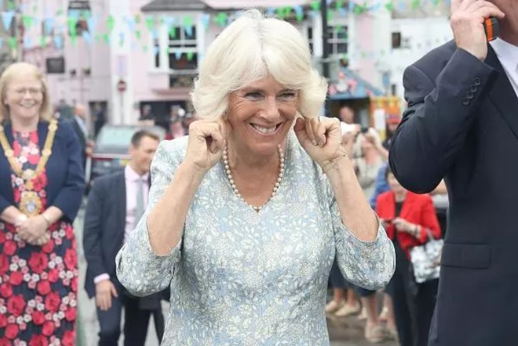 Camilla Parker Bowles was slammed for her affair with Prince Charles on social media. Pictured: Bowles holds her ears as a small cannon is fired as she attend the Fowey Festival Celebration with Prince Charles, Prince Of Wales during day one of their visit to Devon and Cornwall on July 16, 2018 in Fowey, United Kingdom. Photo: Getty Images/Chris Jackson