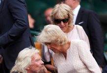Camilla greets Richard Branson in the Royal Box PhoCamilla greets Richard Branson in the Royal Box Photo (C) REUTERSto (C) REUTERS