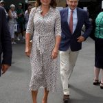 Carole Middleton also attended Wimbledon today Photo (C) PA