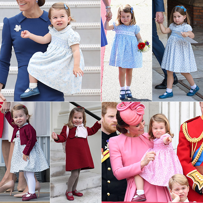 Charlotte always wears the same red and blue shoes Photo (C) GETTY