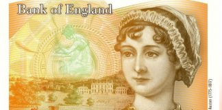Concept design for the new £10 note, featuring a portrait of Jane Austen Photo (C) GETTY