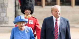 Did Queen Elizabeth II Shade President Trump With Her Outfit Photo (C) GETTY IMAGES