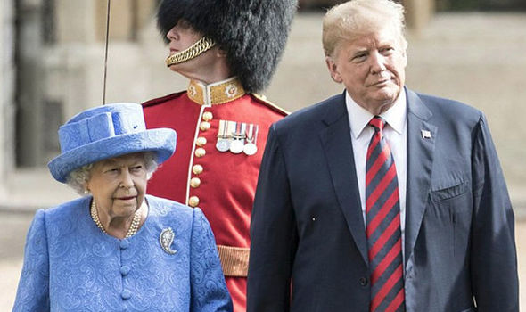 Donald Trump met the Queen for tea at Windsor Castle on Friday Photo (C) GETTY
