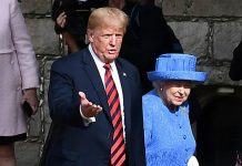 Donald Trump visited the Queen after attending Chequers with Theresa May on Friday morning Photo (C) GETTY