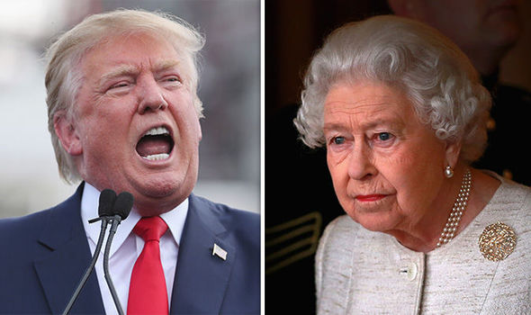 Donald Trump will meet the Queen next month Photo (C) GETTY