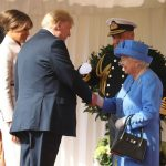 Donald and Melania met the Queen on Friday Photo (C) GETTY