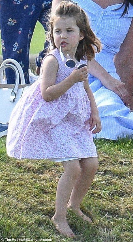 Dressed casually in a £39.99 Zara dress and wedge heels, the Duchess looked every inch the doting mother as she kept a watchful eye on George, four and his cousins Isla and Savannah Phillips.