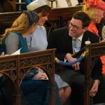 Eugenie and Jack, pictured at the royal wedding, will also marry at St George's Chapel Photo (C) GETTY