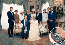 George and Charlotte were ready to pose just ten minutes after the ceremony Photo (C) GETTY