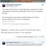 However, things didn't end there, fans were also pissed off with Meghan's dress colour Photo (C) TWITTER