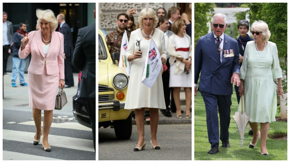 If you hadn't noticed, Camilla wears her Chanel pumps to almost every public appearance. Source Getty