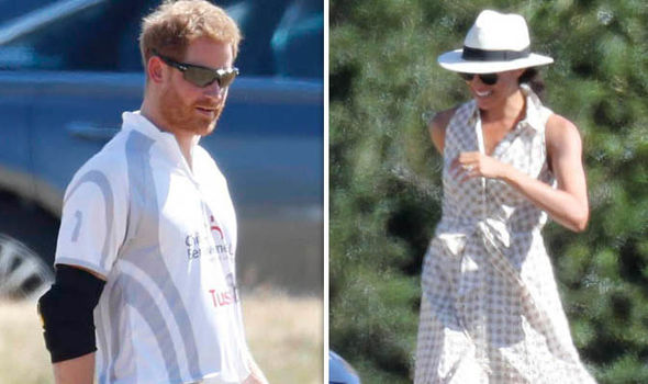 It was Harry's second match this weekend and right, as Meghan relaxes