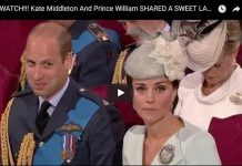 Kate Middleton And Prince William SHARED A SWEET LAUGH In Westminster Abbey!!! [VIDEO]