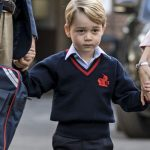 Kate Middleton Prince George attending his first day at Thomas's Battersea School (Image Getty)