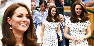Kate Middleton She wore a Wimbledon appropriate look next to Meghan Markle Photo (C) PA, GETTY