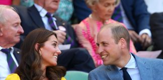 Kate Middleton Wears a Stunning Yellow Dress With Prince William for Second Day at Wimbledon Photo (C) GETTY