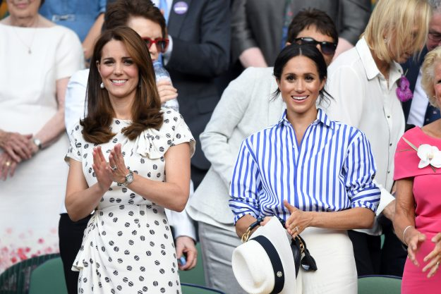 Kate Middleton had attended Wimbledon the day before with Meghan Markle and opted for a polka dot dress [Getty]