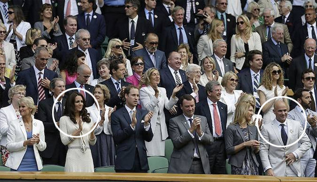 CONFUSED Andre Agassi said he didn't properly understand the royal family Photo (C) AFP