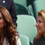 Kate Middleton sat with Andre Agassi's wife Stefi Graf in Wimbledon in 2012 Photo (C) GETTY