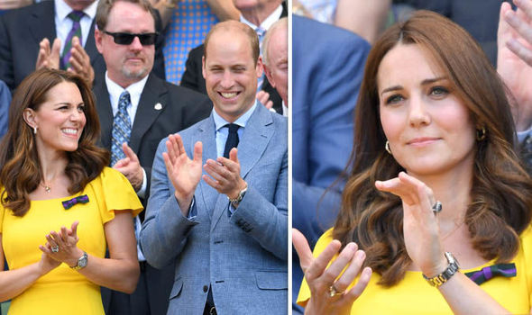 Kate Middleton stunned royal fans wearing her push present at the Wimbledon men's final Photo (C) GETTY