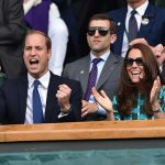 Kate and Prince William are often guests in the Royal box at Wimbledon Photo C GETTY