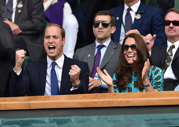 Kate and Prince William are often guests in the Royal box at Wimbledon Photo (C) GETTY