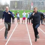 Kate did partake in a 100 metre sprint with Prince William and Prince Harry Photo C GETTY IMAGES