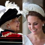 Kate looked beautiful in the intricate earrings, which coordinated perfectly with her dress and hat Photo (C) GETTY