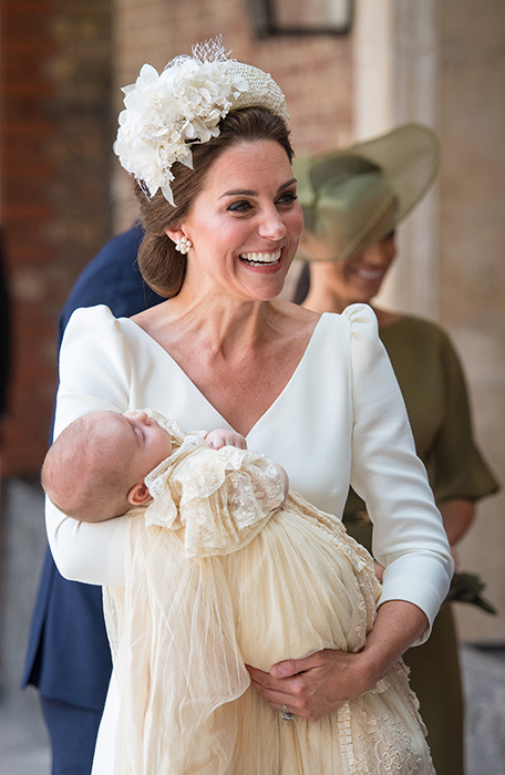 Kate Middleton opts for elegant Alexander McQueen dress to celebrate Prince Louis' christening Photo (C) PA