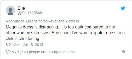 Did nobody give Meghan the 'blue theme' memo Photo (C) TWITTER