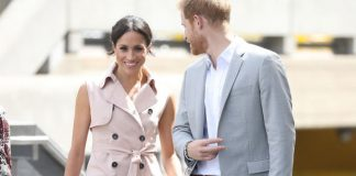 Meghan Markle Her and Prince Harry appear to have struggled not touching each other Photo (C) GETTY
