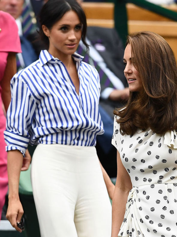 Meghan Markle She attended Wimbledon with sister-in-law Kate Middleton Photo (C) GETTY