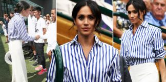 Meghan Markle Her shirt looked too big for her alongside Kate Middleton Photo (C) PA