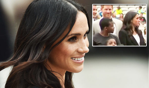 Meghan Markle Prince Harry came to her rescue in Dublin Photo (C) GETTY