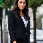 Meghan Markle She recently wore a suit while out in Dublin (Image Getty)