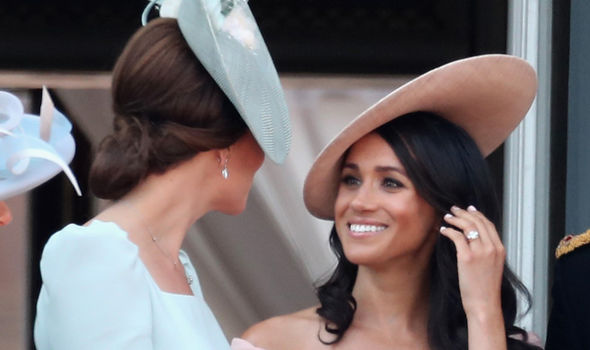 Meghan Markle She was pictured with Kate Middleton at Trooping the Colour Photo (C) GETTY